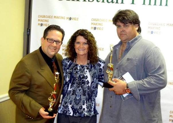 """Churches Making Movies Film Festival, Rahway, NJ  with SEVEN DEADLY WORDS Director Eric """"Doc"""" Benson (Winner Best Director) and JACKSON'S RUN Producer Chris Robinson (Winner Best Feature Film).  I had the honor of being the only actress at this festival that was in 2 of the films being screened."""