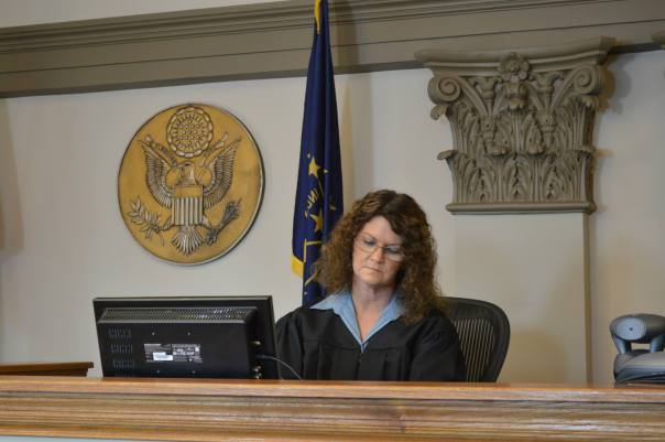 As The Honorable Judge Ann Miller in the film VANISHED, premiering next month (September).
