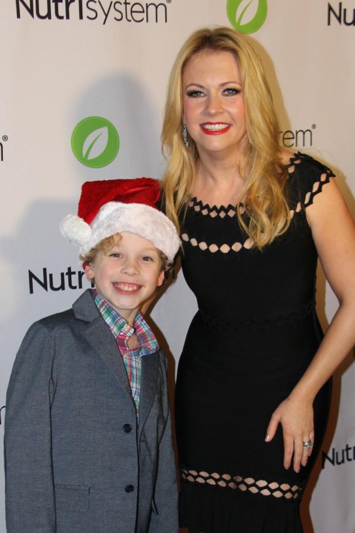 Hudson with Melissa Joan Hart