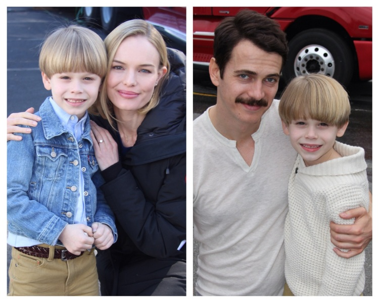 Hudson with Kate Bosworth & Hayden Christiansen on set for 90 Minutes in Heaven.