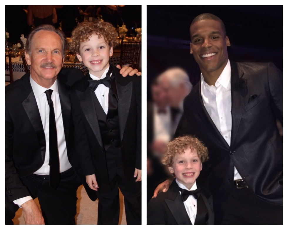 Tucker co-hosting the Because This Is Auburn gala with Michael O'Neill (Transformers, Rectify) and Cam Newton (Carolina Panthers, and Heisman Trophy winner).