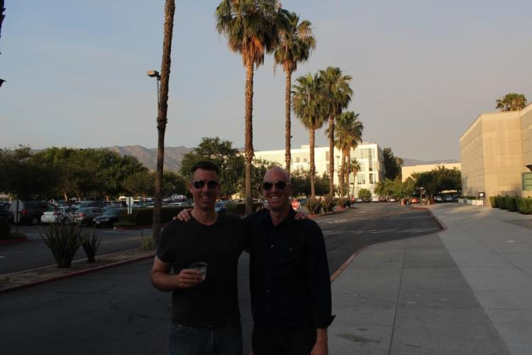 Brothers Dave and Sam Juergens in LA1