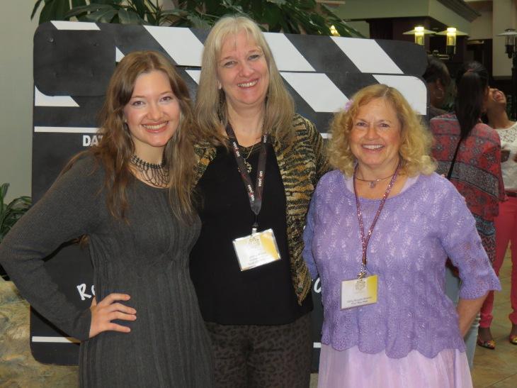 Actress Rebekah Cook and Cathy Runyan-Svacina, president at Right Brain Publishing