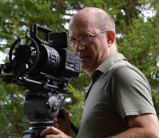 Fred Wilharm filming The Good Book movie