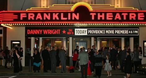 Providence film red carpet Franklin Theatre