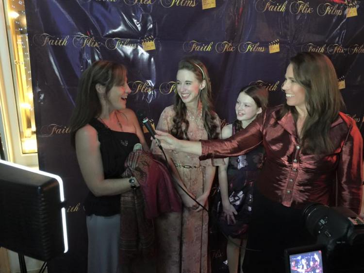 Juli Swingle, Stacey Bradshaw, and Emily Knapp at the Providence Red Carpet intterviews