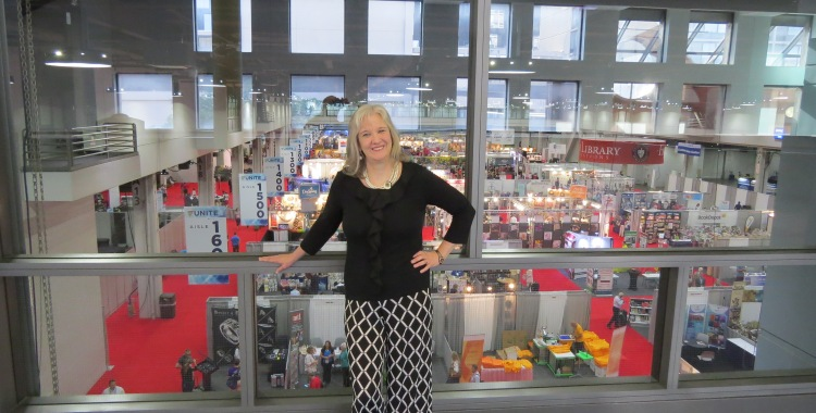 Sharon Wilharm at ICRS expo hall