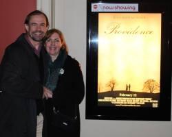 Rich Swingle and Joyce Swingle at AMC Empire for Providence movie