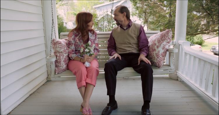 Providence movie screenshot with Juli Tapken and Rich Swingle