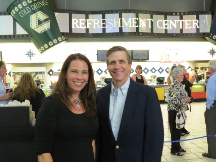 Mary Meyers and Jim Bronaugh at premiere of Remember the Goal