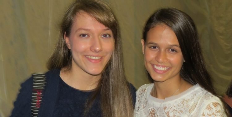 Paige Rohrer and Lilie Grace Christiano at premiere of Remember the Goal