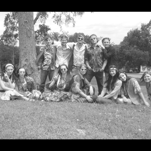 Behind the scenes hippies filming Summer of '67 movie