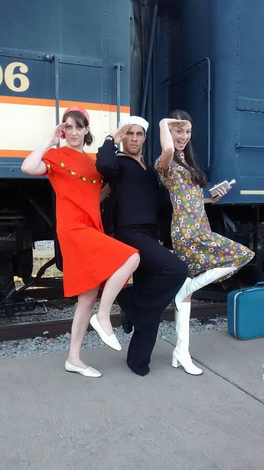 Summer of '67 actors Rachel Schrey, Cameron Gilliam, Bethany Davenport at the Historic Railway Museum