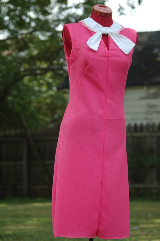 Vintage pink dress worn by actress Sharonne Lanier in Summer of '67 movie