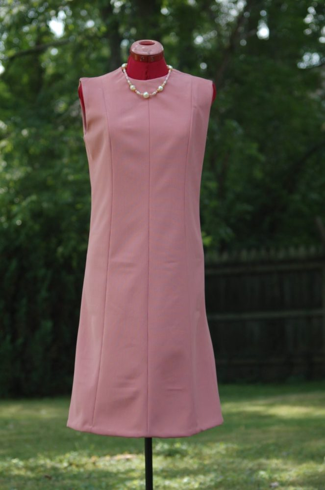 Vintage pink shift dress 1960's worn by actresses Rachel Schrey and Bethany Davenport in Summer of '67 movie