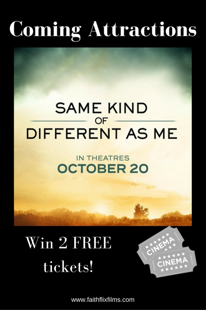 Enter to win free tickets to Same Kind of Different as Me