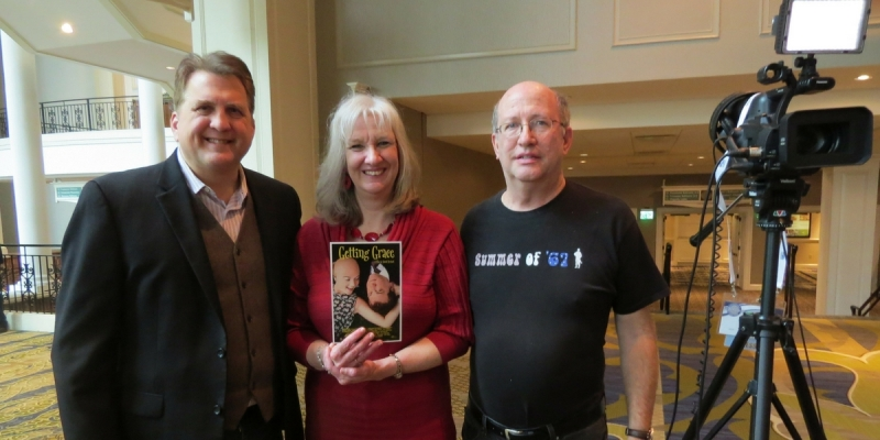 Daniel Roebuck, Sharon Wilharm, and Fred Wilharm at NRB convention