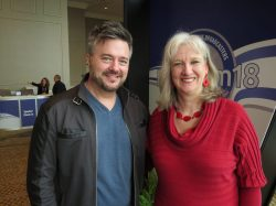 Sharon Wilharm interviews radio host Mark Smeby at NRB 2018