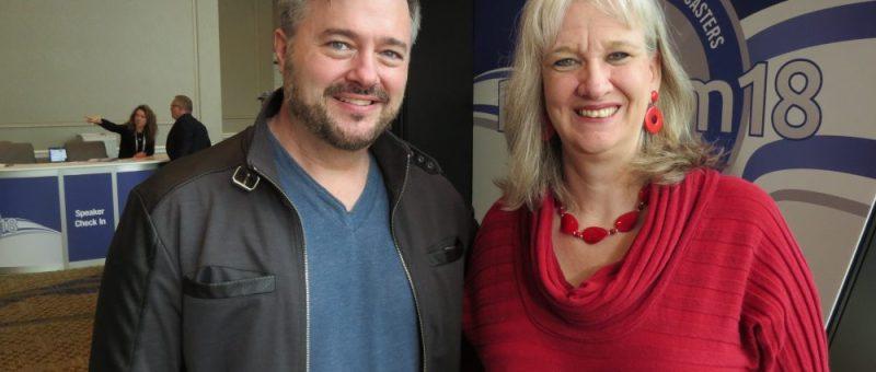 Sharon Wilharm interviews radio host Mark Smeby at NRB 2018