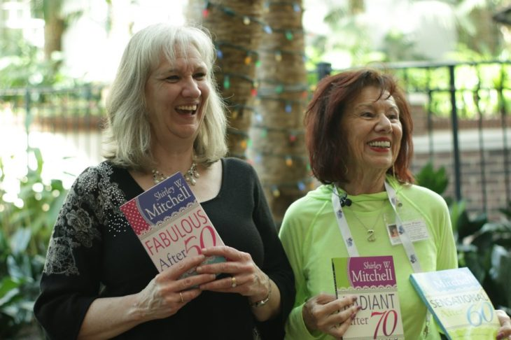 Sharon Wilharm interviews author Shirley Mitchell at NRB 2018