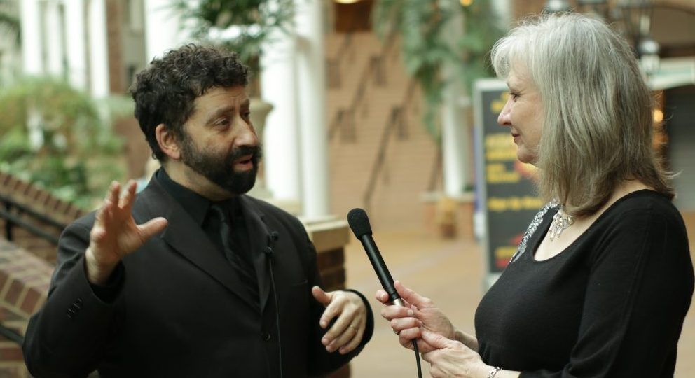 Jonathan Cahn and Sharon Wilharm at NRB Convention