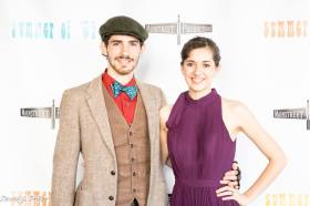 Young filmmakers Colt and Crimson Rose Sugg at Summer of '67 red carpet premiere
