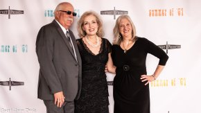 Sperry and Pamela Randolph with filmmaker Sharon Wilharm at Summer of '67 red carpet premiere
