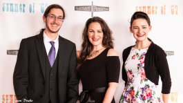 Actors Caedmon Ryan, Jesica Paige, Brennan Paige at Summer of '67 red carpet premiere