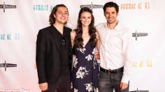 Actors Sam Brooks, Bethany Davenport, Christopher Dalton at Summer of '67 red carpet premiere
