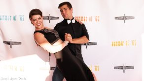 Actors Rachel Shrey and Cameron Gilliam at Summer of '67 red carpet premiere