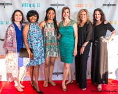 Actresses Diana Schmitt, Valerie Lowe, Eleanor Brown, Mimi Sagadin, Tina Gallo, Jesica Paige Summer of '67 red carpet premiere