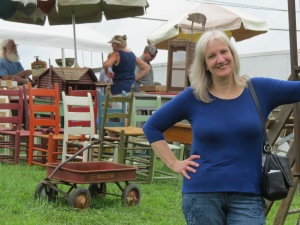 Filmmaker Sharon Wilharm stops off at 127 Yard Sale on way to Great Lakes Christian Film Festival