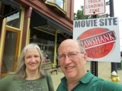 Fred and Sharon at movie site
