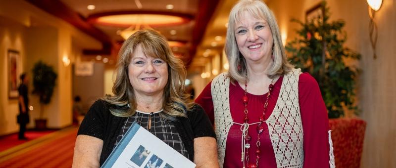 Sharon Wilharm with Nicki Corinne White at CPE 2019