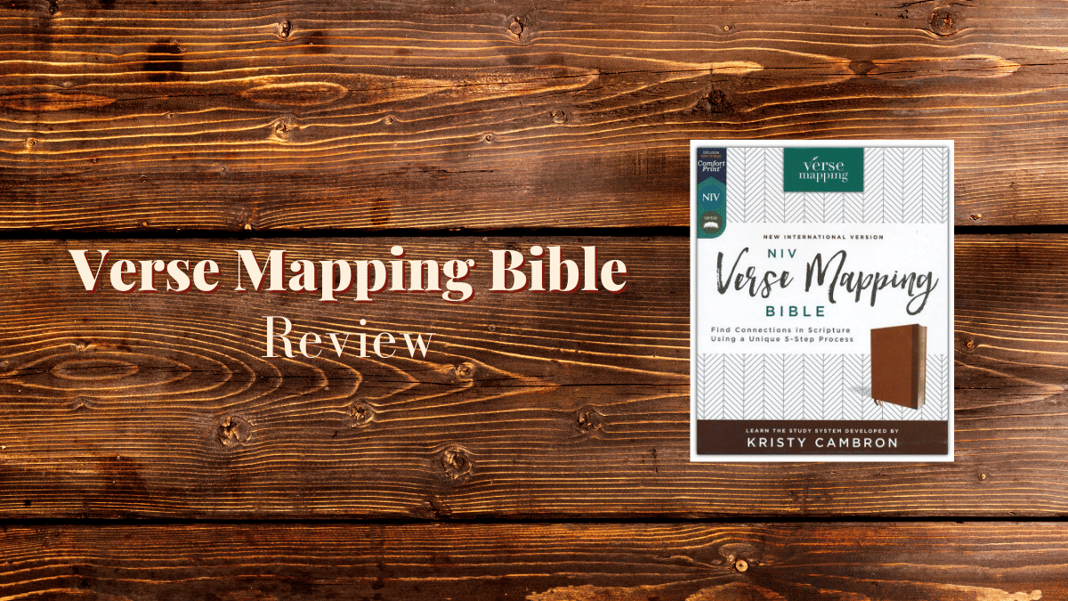 Verse Mapping Bible Review by Sharon Wilharm