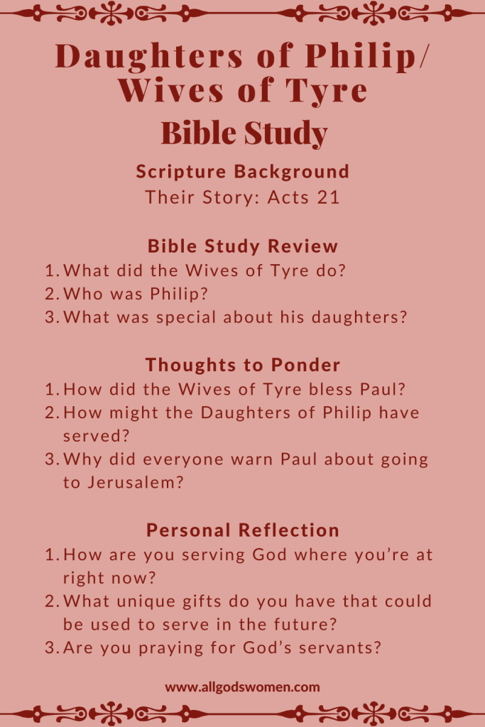 Daughters of Philip All God's Women podcast Bible sudy